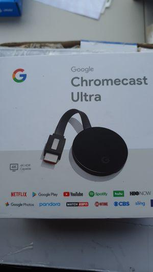 Google - Chromecast Ultra 4K Streaming Media Player - Black for Sale in Houston, TX
