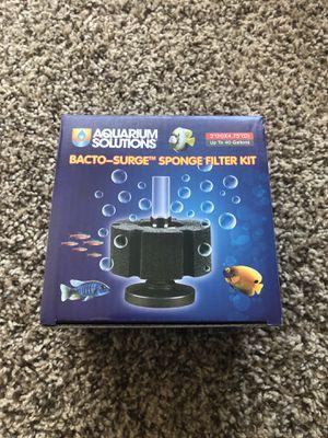 "Aquarium Solutions Bacto-Surge Sponge Filter Kit 2""x4.75"" for Sale in Hacienda Heights, CA"