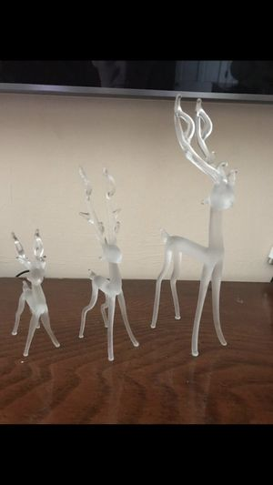 Cute three crystal deers great for gift giving serious buyers please for Sale in Roselle, NJ