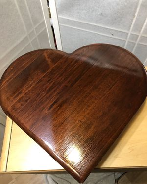 Vintage heart-shaped silverware wood chest for Sale in Newark, DE