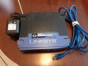 Linksys cable/dsl router with 4 port for Sale in La Porte, TX