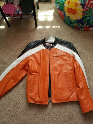 Leather motorcycle riding jacket..lg for Sale in Emporia, VA