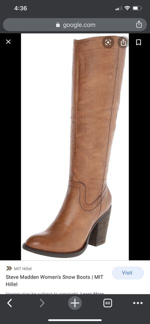 Steve Madden Carrter Cognac Boot Size 8 for Sale in Bothell, WA