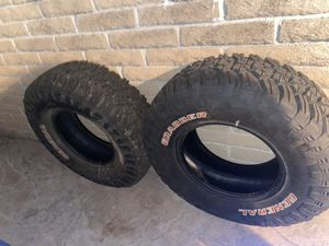 General grabber tires (2) almost new 35 12.5 17 for Sale in Huntington Beach, CA