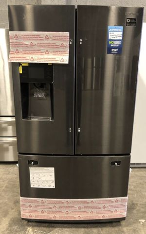 Samsung 24.6 cu ft French Door Refrigerator Dual Ice Maker (Fingerprint-Resistant Black Stainless Steel NEW! Take home only $40 down EZ financing. for Sale in Miami, FL