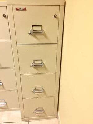 2 FireKing (4 Drawer) Fire proof file cabinets - In excelent condition! for Sale in Hollywood, FL