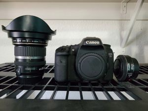 Canon 7D with lenses: 10-22mm and 40mm for Sale in Sacramento, CA