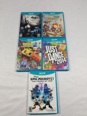 Nintendo Wii U Games Lot of 5 Just dance epic Mickey batman pacman scribblenauts for Sale in Winter Springs, FL