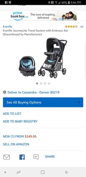 Baby stroller and car seat. for Sale in Denver, CO
