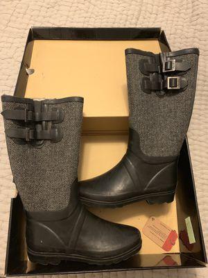 Chooka black rubber rain boots size 7 for Sale in Miami, FL