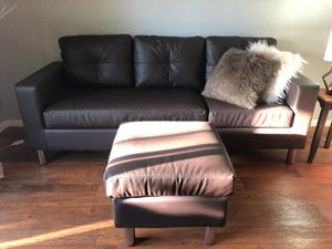 Reversible Couch&Ottoman for Sale in Hemet, CA
