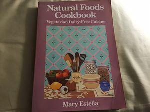 Vegetarian Natural Foods Cookbook for Sale in Franklin, MA
