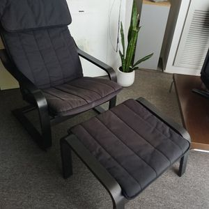 Ikea Poang chair and ottoman for Sale in Portland, OR
