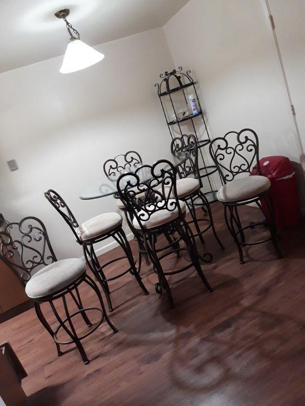 6pc Rod iron dining table