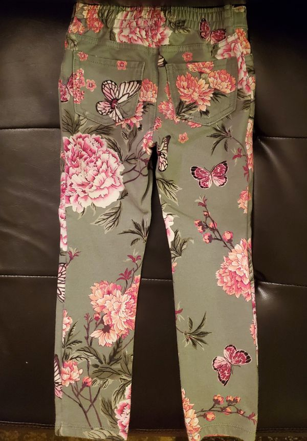 Children's Place Todder Girls Floral Pants