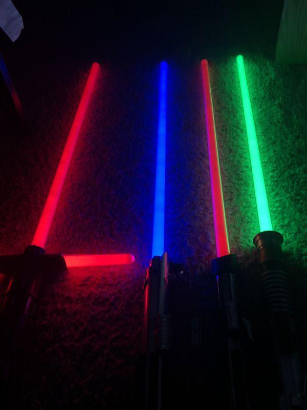 Star Wars Hasbro Force FX Lightsabers Kylo Ren, Luke Green, Luke Blue, Darth Vader