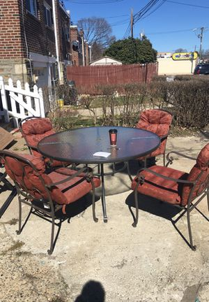 Patio dining table and four (4) chairs for Sale in Philadelphia, PA