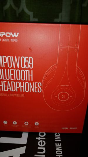Mpow BH059A Black/Red 3.5mm Jack/Bluetooth Wireless/Wired Over-Ear Headphones for Sale in Fontana, CA