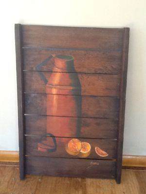 Vintage wood paint picture for Sale in Cuba City, WI
