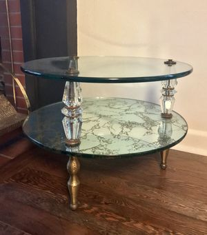 Glass & Mirror End Table for Sale in Seattle, WA