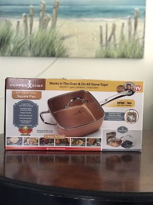 Copper Chef 5 piece cookware set 9.5 square cooking pan set for Sale in San Gabriel, CA