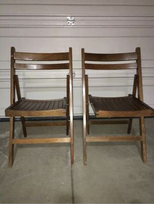 2-Vintage/Antique primitive Wood Slate Folding Chairs BUILT SOLID for Sale in McKees Rocks, PA