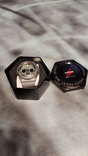 G-Shock Watch Silver and Green for Sale in Nashville, TN