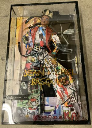New - Barbie Collector Jean-Michel Basquiat X Barbie Doll with Braids, Crown, Suit, and Accessories for Sale in Artesia, CA