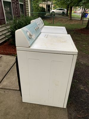 Washer and dryer used working fine heavy duty as it is whirlpool for Sale in Durham, NC