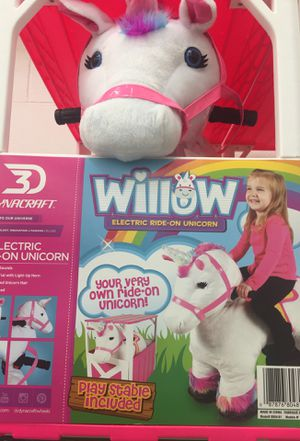 Willow electric ride-on unicorn for Sale in Clayton, NC
