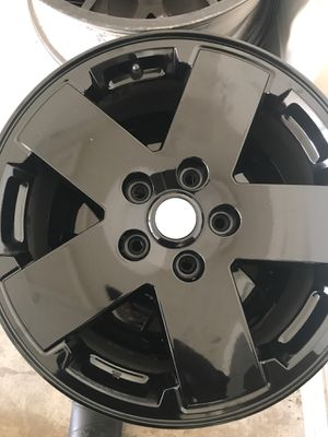 18inch jeep wrangler black coated wheels. All4 for Sale in Columbus, OH
