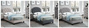 Gray twin bed whit mattress included for Sale in San Jose, CA