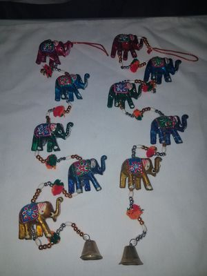 Set the 2 elephants chimes style ornaments for Sale in Anaheim, CA