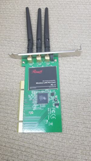 Wireless PCI card with 3 antenas for Sale in Tampa, FL
