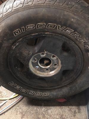 Chevy 6 bolt rims. Aluminum but painted flat black for Sale in Saint Paul, MN