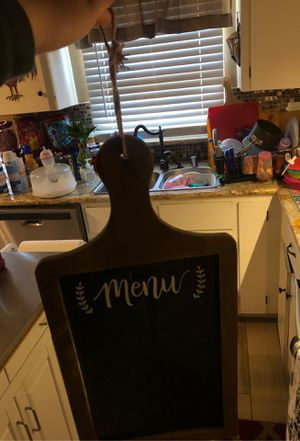 hanging kitchen chalk board for Sale in Fresno, CA