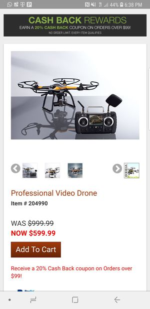 Sharper image professional video drone for Sale in Tolleson, AZ