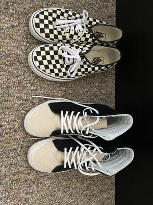 two pairs vans size 10 for Sale in Huntington Beach, CA