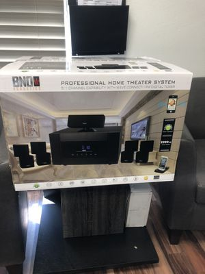 BNO QT-5 5.1 professional home cinema. Comes with a 1000 W a subwoofer with receiver for Sale in Golden, CO