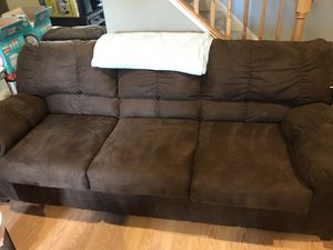 Microfiber couch for Sale in Sterling, VA