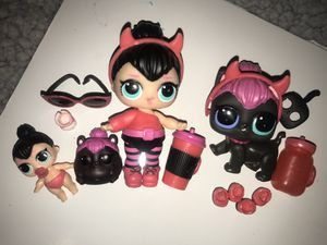 """Lol Dolls series 2 """"Spice"""", lil spice, spicy kitty and hammy spice for Sale in Portland, OR"""