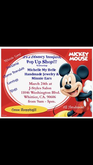 Mickey Ears for sale! Come meet Mickey and Minnie Mouse 12p.m take photos! One vendor at a time! for Sale in Pico Rivera, CA