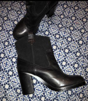 🐎Lauren by Ralph Lauren black boots booties heels leather suede cowboy style shoes retail $300 size 7.5 Women's ladies girls🐎 for Sale in Avondale, AZ