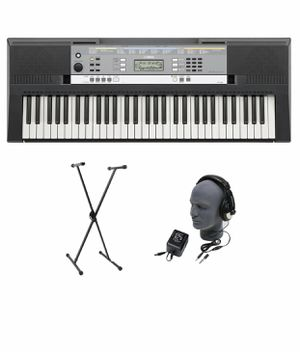 Yamaha YPT-240 61-key Keyboard Pack with Headphones, Power Supply, and Stand for Sale in Fairfax, VA