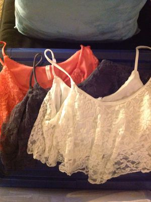 Cute lace crop tops- CLOTHES FOR SALE for Sale in Monrovia, CA