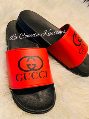 Brand new custom Gucci slides unisex for Sale in Phoenix, AZ