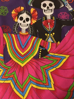"""Mariachi Catrina Couple - Dia de Muerto. Fabric Material. Can be Hung or framed. Measures approximately 24"""" by 28"""" for Sale in Chicago, IL"""