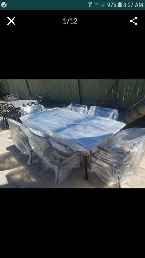 high end patio set practically new was $2800 with tax strong lightweight aluminum 80x42 for Sale in Tracy, CA