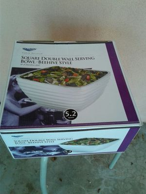 Square Double Wall serving bowl- Beehive style for Sale in Tempe, AZ