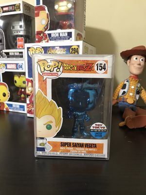 Funko POP! Super Saiyan Vegeta 154 NYCC 2018 Blue Chrome Dragon Ball Z Toy Tokyo for Sale in Rockville, MD